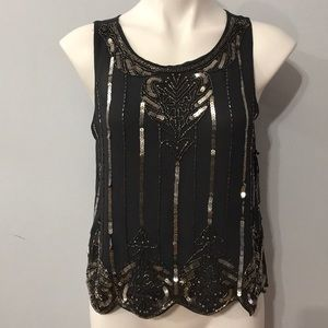 NWT! Sequined Tank Top Blouse